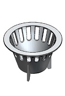 Josam 069596 Aluminum Sediment Bucket for Floor Sink