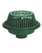 Josam 15 inch Roof Drain, Large Sump, Poly Dome, Specify Outlet