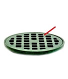 Josam 035640 Cast Iron Drain Grate, Extra-HD, 14 inch OD