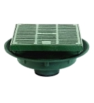 Josam 37810-Y 12 in. Floor Drain, Medium Sump, HD Top, (Specify Outlet)