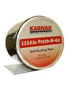 Karnak #550B Patch-N-Go 4 in. Wide BLACK Color Flashing Tape, 8 Rolls