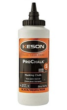 Keson ProChalk GLOW ORANGE, 8 oz bottles (case/12)