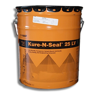 MasterKure CC 250 SB (Kure-N-Seal 25LV), Concrete Sealant (5G) - BASF MasterKure CC 250 SB (formerly Kure-N-Seal 25LV). A Semi-Gloss Low-Viscosity Concrete Sealant, Dustproofing & Curing Agent. 5-Gallon Pail. Price/Pail. (601 VOC, shipping restricted; flammable; ground shipment only)