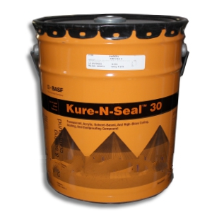 MasterKure CC 300 SB (Kure-N-Seal 30), Concrete Sealant (5G) - MasterKure CC 300 SB (formerly Kure-N-Seal 30), High-Gloss Concrete Sealant & Curing Agent. USDA Compliant for food areas. 5-Gallon. Price/Pail. (High VOC/Restricted Shipping; LTL Shipment only)