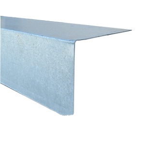 3 X 8 in. x 10 ft. 26 Gauge Galvanized L-Metal - 3 in. FACE X 8 in. TOP x 10 FEET, 26 GAUGE GALVANIZED STEEL L-METAL.  PRICE/PIECE. Leadtime 2-4 days; Note: small orders are CUT to two 5 foot lengths for less expensive shipping.