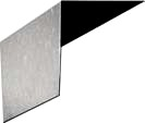 1/2 X 5 in. X 10 ft. 26 Gauge Galvanized L-Metal - 1/2 In. FACE X 5 In. TOP x 10 FEET 26 GAUGE GALVANIZED STEEL L-METAL. PRICE PER PIECE. Note: small orders are CUT to two 5 foot lengths for less expensive shipping.