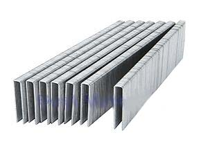 L15 1-1/4 Leg x 1/4 Narrow Crown Staples, 18 Ga EG (30 000) - L15, NARROW CROWN L-SERIES COLLATED STAPLES, 1-1/4 in. LEG X 1/4 in. CROWN, 18 GAUGE, GALVANIZED  STEEL. 5000/BOX. 6 BOXES/CASE (30,000). PRICE/CASE. (63 cases per pallet, order full pallets for discount & special freight)
