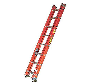 16 ft. Fiberglass Extension Ladder, Type 1A 300 Lb., Made/USA - 16 Foot Fiberglass Extension Ladder, Type 1A Extra Heavy Duty Industrial, 300 lb. Capacity, OSHA/ANSI Compliant. Made in USA by Sunset Ladder. Price/Each. (special shipping required, please call us)