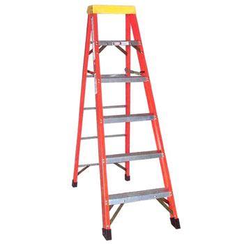 6 ft. Fiberglass Step Ladder, Type 1A 300 Lb. Made/USA - 6 Foot Fiberglass Step Ladder, Type 1A Extra Heavy Duty Industrial, 300 lb. Capacity, OSHA/ANSI Compliant. Made in USA by Sunset Ladder. Price/Each.