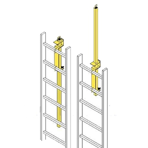 Lp 4 Ladder Safety Post Yellow Powder Coat