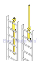 LP-4 Ladder Safety Post, Yellow Powder Coat