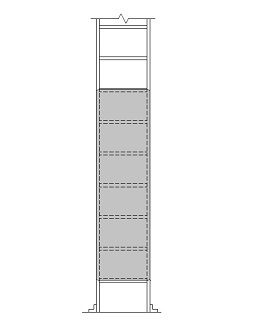 Access Ladder Security Door / Cover, 20x72 - Alaco H-300-72 Ladder Security Door / Cover. 20-1/4 x 72 inch x 0.188 inch aluminum Door / Cover with Lock Hasp and Piano Type Hinge, installation hardware. Price/Each. (Special order; see detail view for order notes)