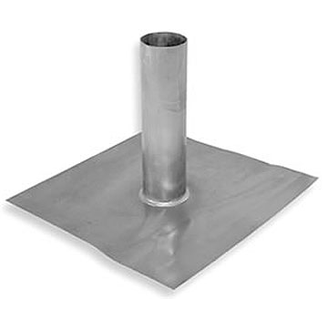 2 in. ID, 4 Lb. Lead Flashing, Fits 1-1/2 in. EMT Pipe, 12x12 Base - #L200, 2 ID X 12 inch Riser pipe, fits 1-1/2 EMT pipe size. 4 lb. Lead Pipe Flashing (roof jack). 6 inch Skirt/Base. Price/Each.