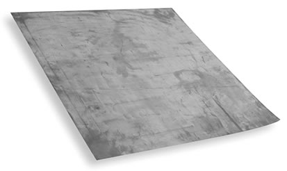 3 ft. X 3 ft.  2-1/2  Lb. Lead Sheet (22.5 Lb. roll) - 3 X 3 foot Lead Sheet (Rolled for Shipment), 99.9+% Lead, 2.5 lb./SqFt., ~22.5 Lb Total. Popular as a Drain Pan. Price/Each. (shipping leadtime 1-2 business days)