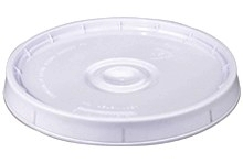 Lid w/ Gasket for 5G Plastic Pail - RE-SEALABLE PLASTIC LID WITH RUBBER GASKET & PULL TAB. FITS 3 & 5 GALLON 70 MIL LEAKTITE PLASTIC PAILS. PRICE/EACH. (Leaktite #P5LD)