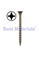 #9 X 1-5/8 Deck Screw,  Sq. Drive, ACQ Finish, Sharp Point (100)