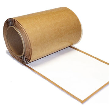 White EPDM Coverstrip Seam Cover Tape, 6 in. X 50 ft. Roll - WHITE EPDM Coverstrip Seam Cover Tape with White Butyl Rubber Peel/Stick Adhesive. LionGUARD Brand, Made in USA. 6 inch wide X 50 foot Roll. Price/Roll.