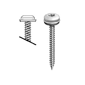#9 x 2 Stainless Steel Pan Head EVERGRIP Screw w/ NEO (250) - EVERGRIP 1119937, #9-15 x 2 in. Stainless Steel, T-25 Torx Drive, Low Profile Pan Head, Sharp Point Metal-Wood Screw with Stainless Steel Bond Seal Washer. 250/Bag. Price/Bag.
