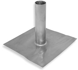 1-1/4 In. ID, 4 Lb. Lead Flashing, Fits 1 in. EMT Pipe, 12x12 Base - #L125, 1-1/4 in. ID x 12 in. Riser, Fits 3/4 or 1 inch EMT Pipe. 4 Lb. Lead, Pipe Flashing, 12x12 in. Base. Price/Each.