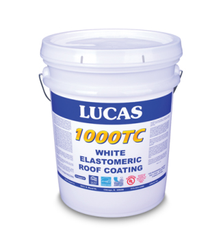 LUCAS #1000TC Top Coat Elastomeric Roof Coating 5 Gallon WHITE