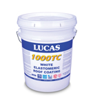 LUCAS #1000TC Top Coat Elastomeric Roof Coating, 5 Gallon, WHITE
