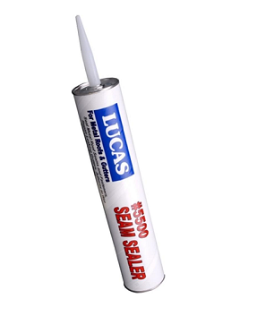 Lucas 5500M Seam Sealer, Brushable Mastic, Black, 30 oz. Tube (Box/12 Tubes) - Lucas 5500M Seam Sealer, Synthetic Rubber (asphalt free), Semi-Self Leveling Brushable Grade Mastic for Metal Roof Seams / Fasteners and Gutters. Black Color. 30 Oz Tubes. 12 Tubes/Box. Price/Box. (UPS Shipping Only; shipping leadtime 2-3 days)