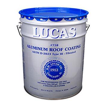 Lucas 758 Fibered Aluminum Roof Coating (5G)   Lucas 758 Fibered Aluminum Roof  Coating