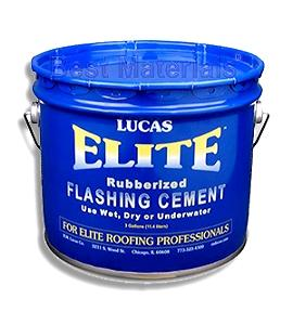 Lucas 776 Elite, Wet/Dry Flashing Cement, 3G - Lucas 776 Elite Wet/Dry Ultra Rubberized Flashing Cement. D-4586 Type 1, Class II, Trowel Grade. ASTM/Miami-Dade Approved. 3-Gallon Pail. Price/Pail. (combustible; UPS shipping only)