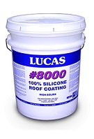 LUCAS #8000 Silicone Roof Coating, High Solids, 5G, SPECIFY COLOR