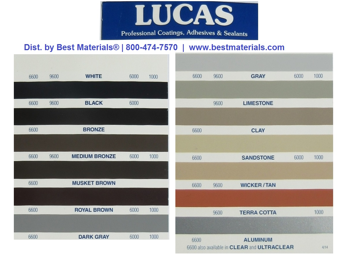 Lucas 9600 High Performance Joint Sealant Specify Color