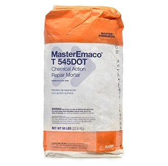 MasterEmaco T 545DOT, Quick-Set Concrete Roadway Patching Mortar - MasterEmaco T 545DOT (formerly Set 45 Cal Tran) Quick-Set One-Component Concrete Roadway Patching Mortar. Caltrans Lab Certified batches. Available only in Calif. 50 Lb. Bag. Price/Bag. (special Order; see detail view for ordering notes)