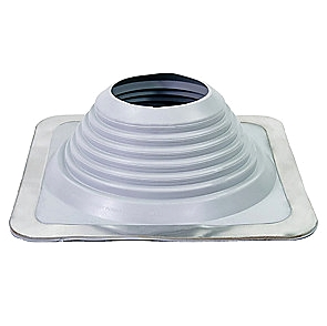 #8 Master Flash GRAY EPDM Square-Base Pipe Flashing - #8 Master Flash GRAY color EPDM Pipe Flashing Boot. 17x17 inch Square Base, 6.75 inch High, Open Top. Fits 6.75 - 13.5 inch Pipes. Price/Each.