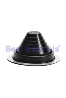 #4 Round Base Black EPDM Pipe Flashing (1)