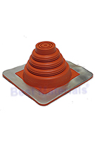 #1 Master Flash Red Silicone Square-Base Flashing