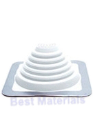 #1 Master Flash WHITE EPDM Square-Base Flashing