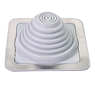 #2 Master Flash GRAY Color EPDM Square-Base Flashing - #2 Master Flash GRAY EPDM Pipe Flashing Boot, 20 Year Warranty. 6x6 inch Base x 3 inches High with 3/4 inch open top. Fits 7/8 - 4 inch Pipes (22mm to 101mm). Price/Each.