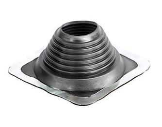 #8 Master Flash BLACK EPDM Square-Base Pipe Flashing - #8 Master Flash Black EPDM Pipe Flashing Boot. 17x17 Inch Square Base, 6.75 Inch High Open Top. Fits 6.75 - 13.5 Inch Pipes. Price/each.