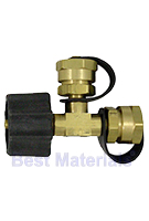 Propane T-Adaptor, Type-1 Acme x 2 Male 1 inch Fittings