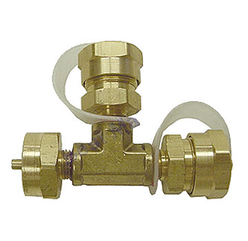 Propane T-Adapter, 1-Inch-20 Female x Two 1 Inch-20 Male - MEC #ME414, Propane T-Adapter. 1-Inch-20 Female x TWO 1-Inch-20 Male Fittings (with caps). Price/Each.