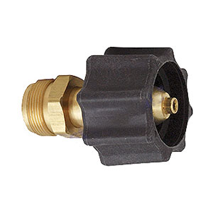 Propane Adaptor, Female ACME x 1-20 Male - MEC #ME474, Propance Adpator Fitting, 1-5/16 Inch Female ACME Inlet x 1 Inch–20 Male Outlet. Price/Each.
