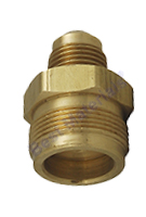 Disposable Propane Cylinder Adapter, 1-20  Male x 3/8 Male Flare, Valved