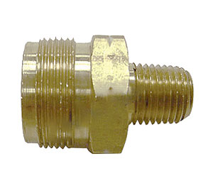 Propane Cylinder Adapter, 9/16-18 Male LH x 1-20 Male w/Check & O-ring - Male Propane Cylinder Adapter 1-20 x 9/16-18 Male Left Hand Thread, with O-Ring and Check Valve. Price/Each.
