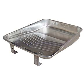 Paint Tray, 11 inch Wide, Metal (1) - PAINT TRAY, 11 INCH WIDE WIDE (FOR 9 inch ROLLER FRAMES), BRIGHT METAL FINISH STEEL. PRICE/EACH.