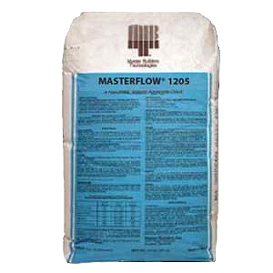 Masterflow 1205 Pumpable Hi-Strength Non-Shrink Grout, 55lb, 60 bags - BASF Masterflow 1205 Cable Grout. Pumpable High-Strength Non-Shrinking Extended Working Time Grout. 55 Lb./Bag. 60 Bags/Pallet. Price/Pallet. (shipping leadtime 2-4 business days)