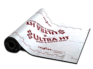 MFM Ultra HT Wind & Water Seal, Peel-Stick Underlayment, 3x67 ft. Roll - MFM Ultra HT Wind & Water Seal Underlayment. High Temperature Peel and Stick / Self Adhering underlayment with a non-slip cool white/gray polymer film. 3 x 67 ft./Roll (2-square). Price/Roll. (special order; 2-3 day shipping leadtime; no USPS shipping)