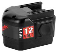 Milwaukee #48-11-1970 12V 2.4 A-H Battery - MILWAUKEE #48-11-1970 12V 2.4 A-H BATTERY. Full 2.4 A-H capacity. Replacement for Milwaukee 48-11-1967. Use with ALL Milwaukee 12 Volt Tools and work lights. New in retail packaging.