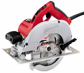 Milwaukee 6391 Circular Saw 7-1/4 in. Left Side Blade, With Case - Milwaukee #6391 7-1/4 in. Left-Side Blade Powerful 15 Amp, 5800 RPM Circular Saw WITH CASE. REFURBISHED. Price/each.