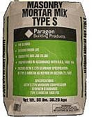 Masonry Mortar Mix, Type-S, 1800 PSI, 80 lb.