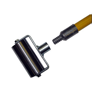 Steel Seam Roller 4 Inch Wide W 60 In Fiberglass Handle