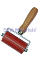 Silicone Roller, 4 in. Wide x 2 Dia. w/ Hardwood Handle